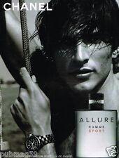 Publicité advertising 2005 Parfum Allure Sport De Chanel