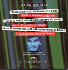 "JUANES "" UN DIA NORMAL"" RARE & EXCLUSSIVE SPANISH PROMO CD SINGLE - EKHYMOSIS"