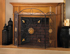 Iron Fireplace Screen Divider Fire Place - New