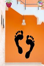 Wall Sticke Footprints On A Wall Coolest Modern Funny Decor  z1529