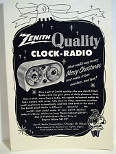 Vintage 1940's Advertising Store Sign Ad Christmas ZENITH CLOCK RADIO