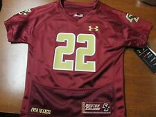 "BOSTON COLLEGE ""UNDER ARMOUR"" KIDS FOOTBALL JERSEY (2T) NWT $40 ""FLUTIE #22"""