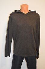 New $325 Vince Cashmere/Wool Sweater Hoodie Grey/Gray sz XL Hooded