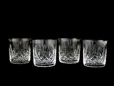 4 Waterford Crystal Lismore Old Fashioned Glasses Tumblers