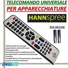 TELECOMANDO UNIVERSALE PER TELEVISORI HANNSPREE - INVIARE MODELLO DEL TV/DECODER