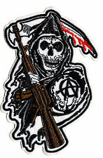 SONS OF ANARCHY REAPER IRON ON / SEW ON PATCH Embroidered Badge TV SOA PT27