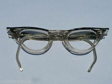 Vintage Gray Marble and clear Eye Wear Frame For kids 34x20 5 1/4 temple wraps