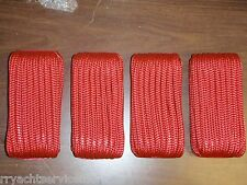 "DOUBLE BRAID DOCK LINE  1/2"" X 20FT  50-39751 RED 4 PAC 15"" EYE SPLICE BOAT ROPE"