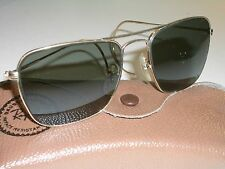 1960's 52mm VINTAGE B&L RAY BAN SMALL G15 WRAPAROUNDs CARAVAN AVIATOR SUNGLASSES