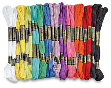 40 x Coloured Embroidery Thread Cotton Cross Stitch/Braiding/Craft Sewing Crafts