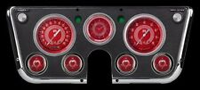 1967-1972 chevy c10 truck classic instruments gauge panel red steele v8 ct67v8rs