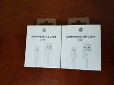 2x OEM Original Genuine Apple iPhone 6S Plus iPhone 5S Lightning Charger Cable