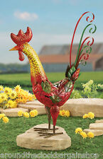 Decorative Country Rooster Garden Stake