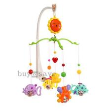 Cute Cartoon Music Box Bed Toy Gift Nursery with Baby Crib Bell Mobile Wind-up