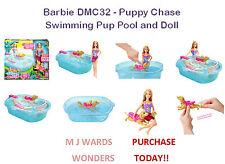 Barbie DMC32-Cachorro Chase Nadar Cachorro piscina y Muñeca ** compra hoy **