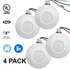 4 Pack Ceiling Motion Sensor High Bay Line Voltage PIR Occupancy Light Switch