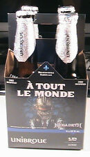 MEGADETH A TOUT LE MONDE UNIBROUE 4 EMPTY BEER BOTTLES WITH CASE