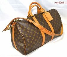 Authentic Louis Vuitton Monogram Keepall 45 Bandolier iwj4208-1