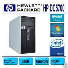 HP Compaq dc5700~3.4GHz Dual Core~4GB~500GB~DVD/RW LightScribe~Win 7 Pro 64bit