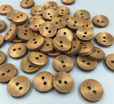 50PCS Wooden Buttons Sewing Scrapbooking Round Button 2 Holes Crafts 15mm