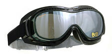 HALCYON MK5 VISION OVER GLASSES STYLE SMOKE LENS MOTORCYCLE GOGGLES RETRO VINTAG