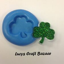 Silicone Mould Lucky Shamrock St Patricks Day Irish Sugarcraft Cupcake Clay Fimo