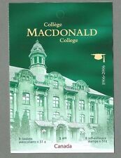 CANADA 2006 - Booklet - MACDONALD COLLEGE  - 8 @ 51c - Complete MNH