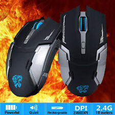2.4GHz Wireless Rechargeable Mouse 6 Button 2400DPI Optical Ergonomic Game Mouse