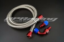 Stainless Steel Braided Racing Hose Fuel Oil Line / AN8 Fuel Oil Line Fitting