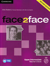 CAMBRIDGE face2face Upper-Intermediate SECOND EDITION Teacher Book +DVD NEW 2013