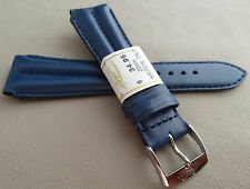 New ZRC France Blue Padded Water Resistant 20mm Watch Band Chrome Buckle $34.95