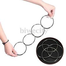 4 Chinese Linking Rings Set Magnetic Lock Kids Party Show Stage Magic Trick