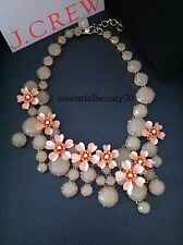 NWT J.Crew Water Lily Shell Pink Blush Collar Necklace with Pouch Orig $148