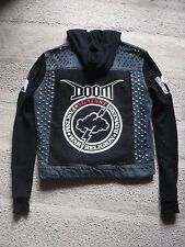 Crust Punk Studded Denim Battle Jacket - Doom, Crass, Discharge, Amebix + more