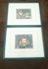 Lot of 2 Frog Prints by Dianne Krumel Framed Matted Vintage Signed Numbered Nice