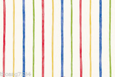 Multi Color Rainbow Blue Red Yellow Green Thin Stripe Wallpaper GU93131