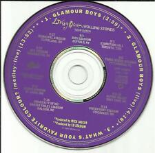 LIVING COLOUR Glamour Boys w/ 2 RARE LIVE TRX PROMO DJ CD single ROLLING STONES