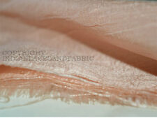 Pale Peach dupioni silk or raw silk fabric made from pure silk