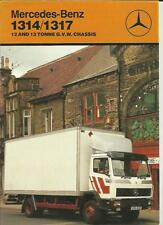 MERCEDES BENZ 1314 & 1317 12/13 TON CHASSIS TRUCK LORRY SALES BROCHURE 1986 1987
