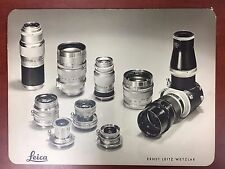 "Vintage Leica Leitz Wetzlar Dealer Sign Poster on Board 16x22"" (Visoflex,Lenses)"