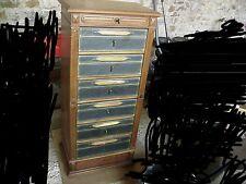 Cartonnier en chene meuble fin du 19e siècle a systeme