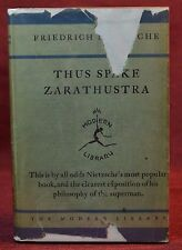 Early Modern Library 9 Thus Spake Zarathustra Nietzsche Toledano 6 w/DJ 1930-31