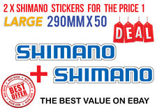 2 X LARGE SHIMANO DECAL STICKER FOR BOATS /FISHING 290MM X 50MM