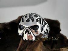 US SELLER The Original Mens Flaming Skull Stainless Steel Ring SIZE 9 316L