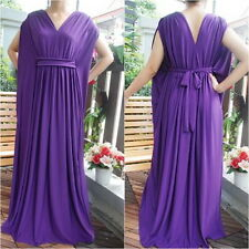 Sexy Purple Kimono Batwing Dolman Maxi Dress Casual Cocktail Party Summer Sz 2XL