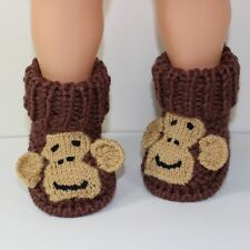 PRINTED KNITTING INSTRUCTIONS-TODDLER MONKEY BOOTS KNITTING PATTERN