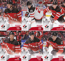 15-16 Team Canada Juniors Josh Morrissey /199 Red Exclusives Upper Deck 2015