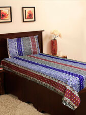 Homefab India Cotton Single Bed-Sheet with 1 Pillow Cover (Single152)