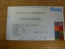13/04/1996 Ticket: Chelsea v Leeds United [Ticket Is Specific To Game (Match Cod
