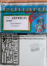 Eduard 1/72 SS580 Colour Zoom etch for the Zvezda Sukhoi Su-33 ' Flanker D' kit